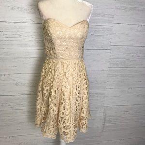 Betsey Johnson Lace Strapless Dress